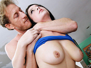 Attractive sexy babe with massive juggs Noelle Easton gets banged